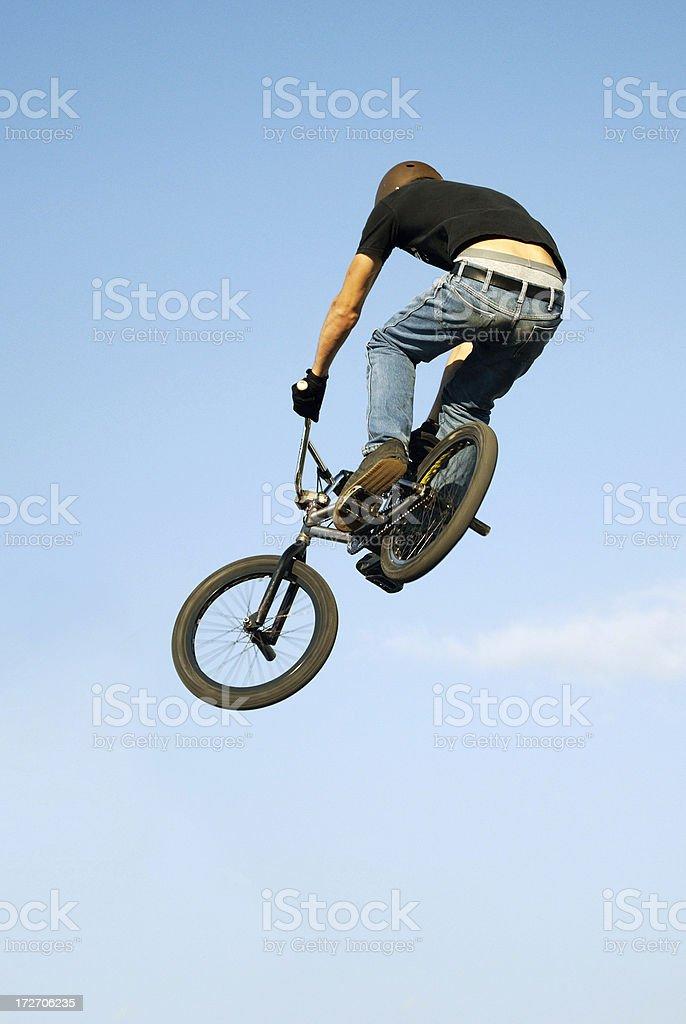 Bike acrobatics royalty-free stock photo