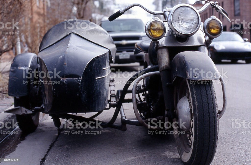 bike  and car copy royalty-free stock photo