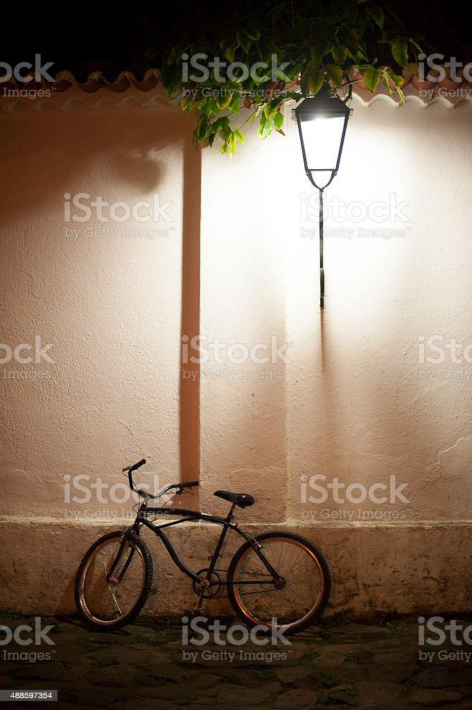 Bike and Light stock photo
