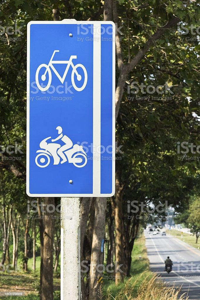 bike and motorcycle lane sign royalty-free stock photo