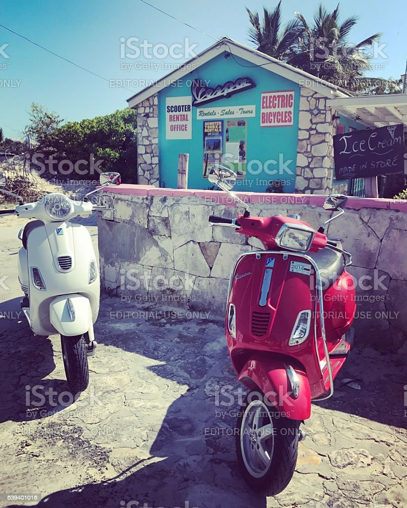 Bike and scooter Rentals in Turks and Caicos Islands stock photo