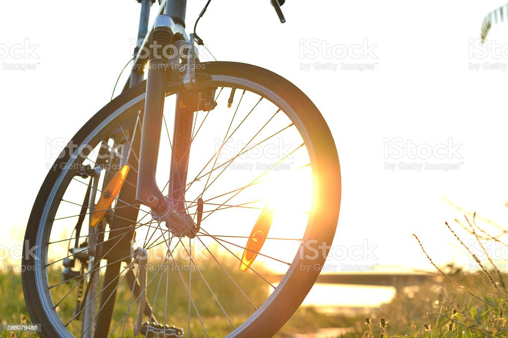 Bike at the Sunset stock photo