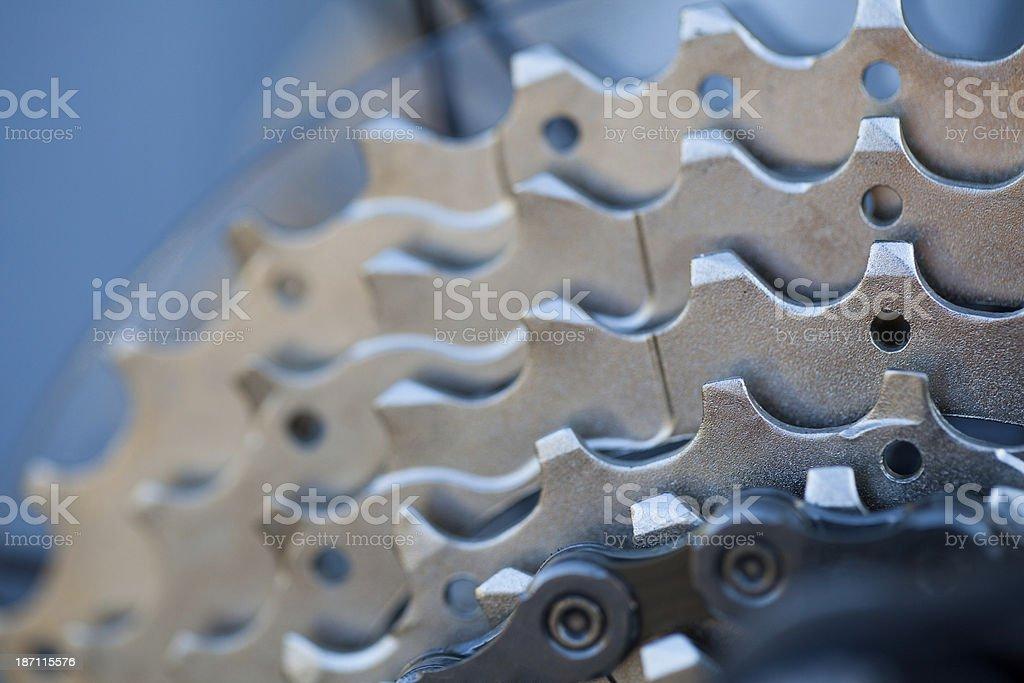 Bike cassette and chain stock photo