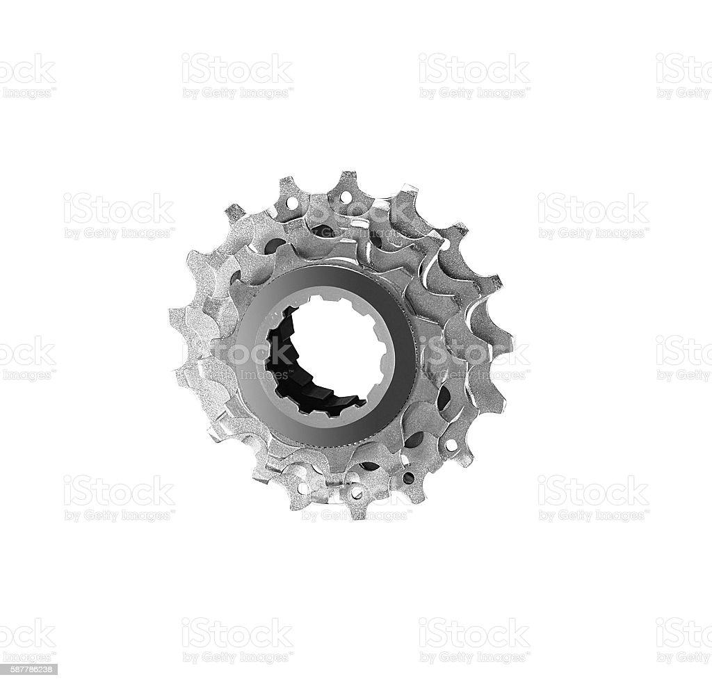 bike cassette isolated stock photo