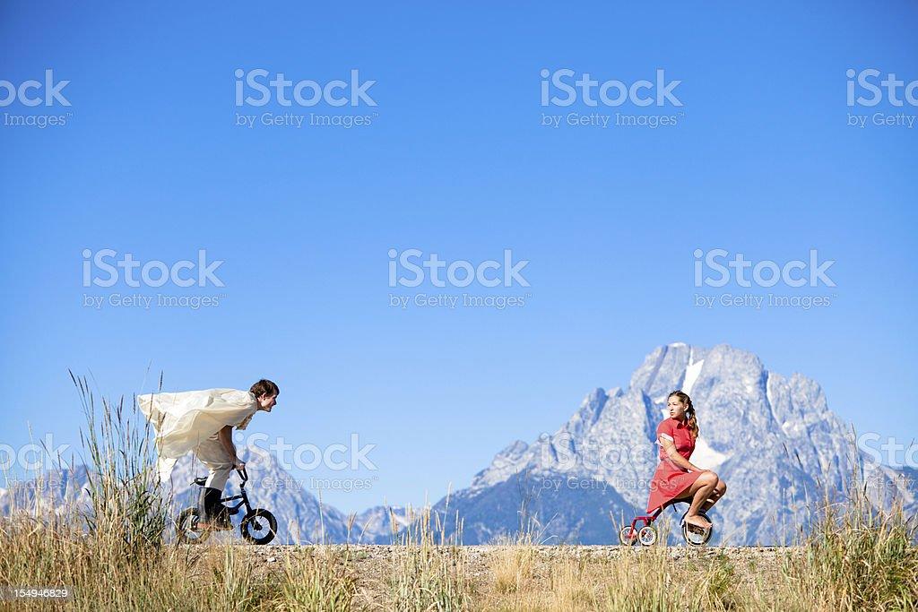 Bike Chase stock photo