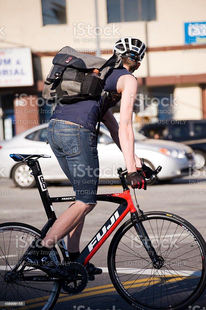 bike commuter royalty-free stock photo