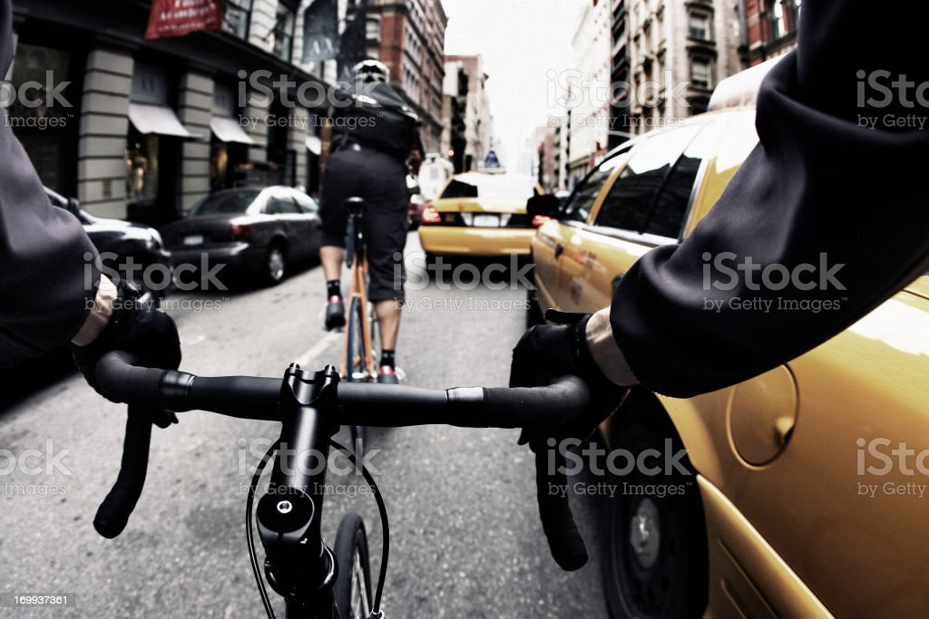 Bike Courier in New York City royalty-free stock photo