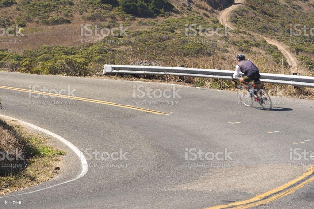 Bike Curve royalty-free stock photo