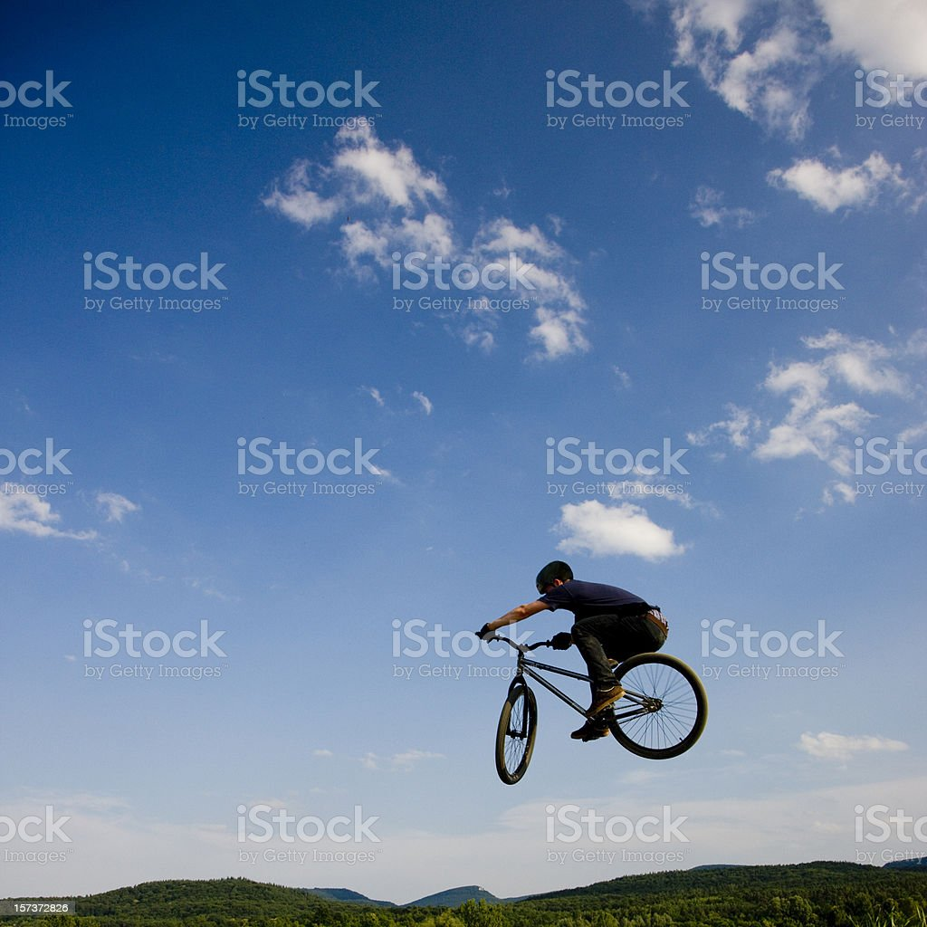 Bike Dirt Jumping royalty-free stock photo