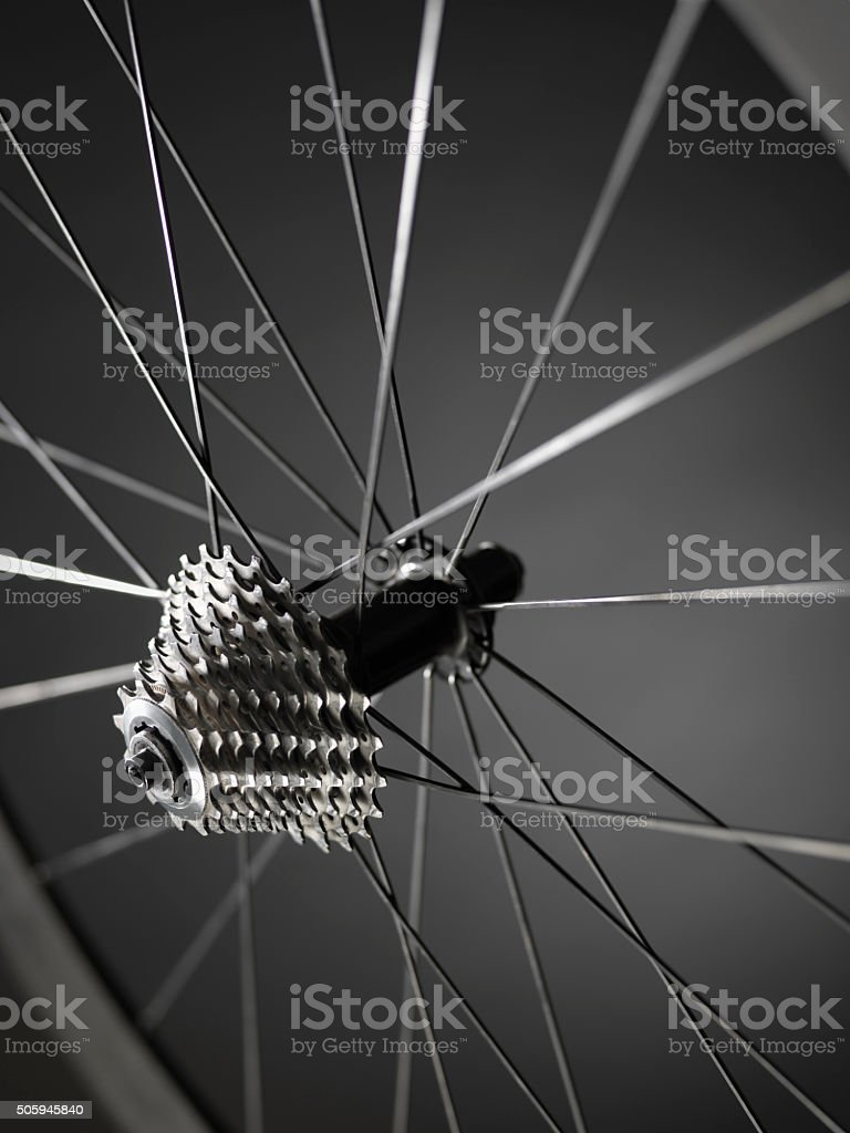 bike gears cogs wheel - Stock Image stock photo