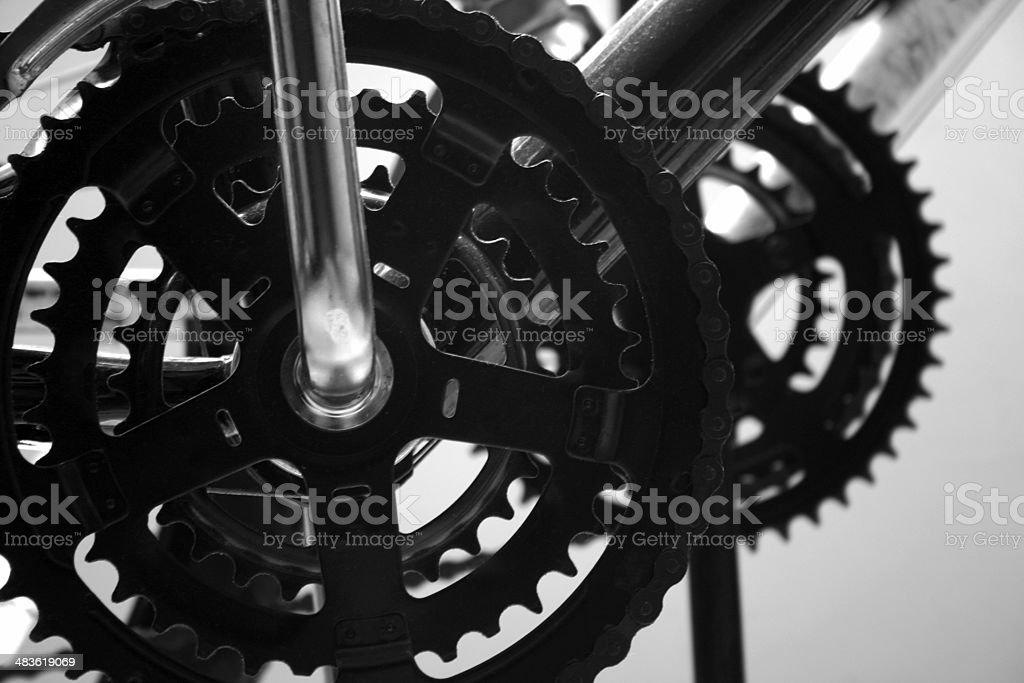 Bike gears royalty-free stock photo