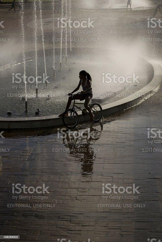 Bike girl. royalty-free stock photo