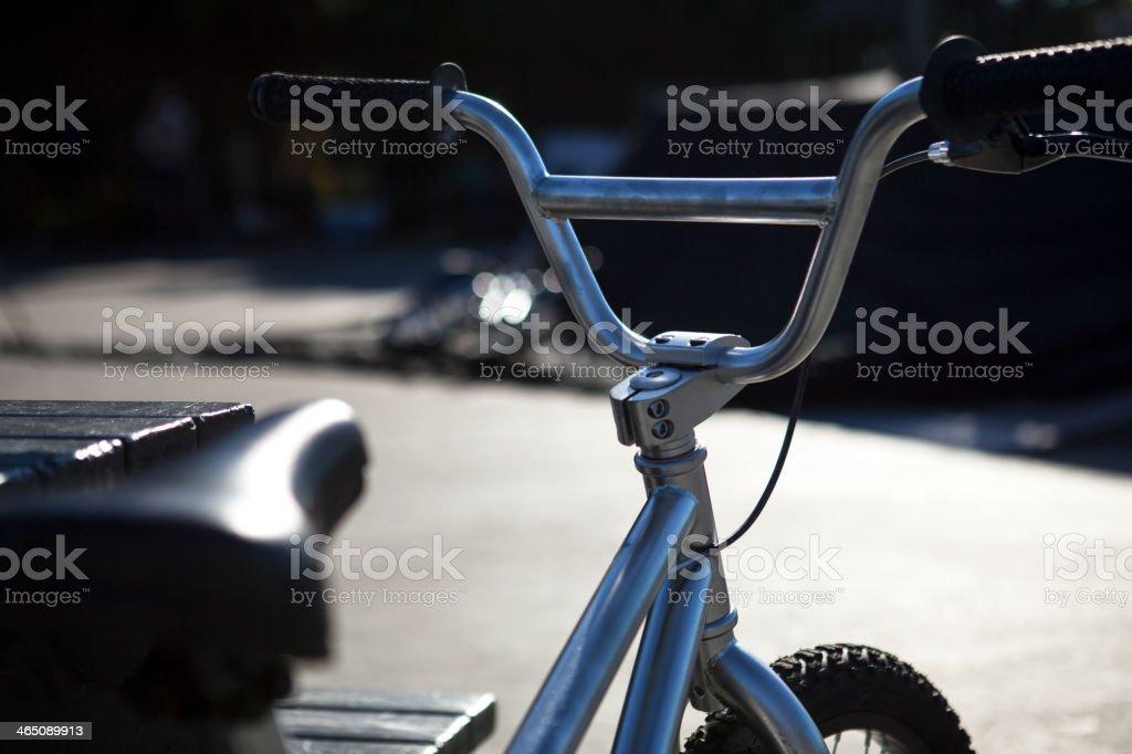 Bike handlebars stock photo