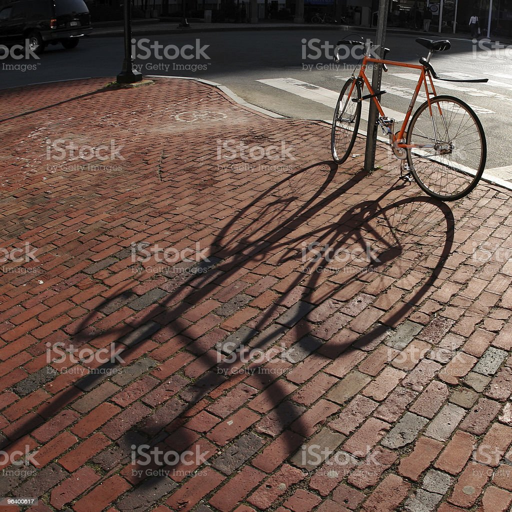 Bike in a square royalty-free stock photo
