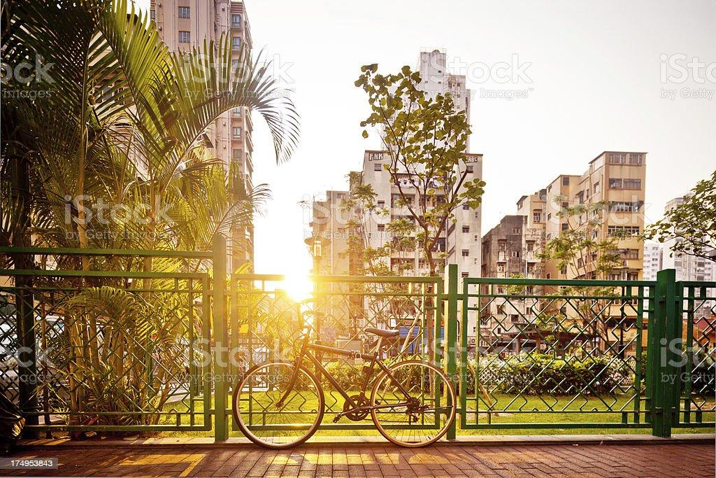 bike in HongKong royalty-free stock photo