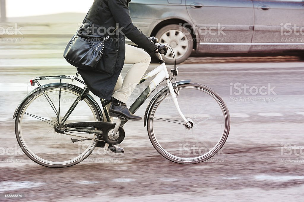 Bike in motion royalty-free stock photo