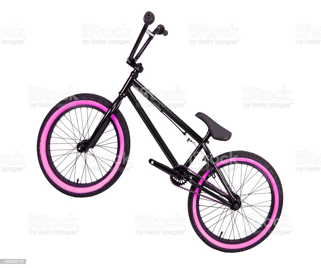 bike isolated on white stock photo