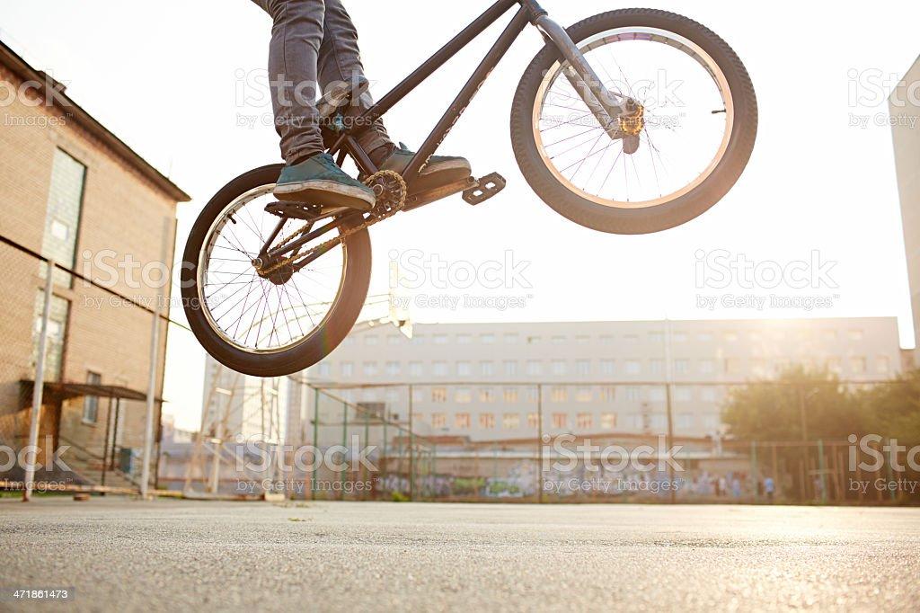 Bike jump or bunnyhop royalty-free stock photo