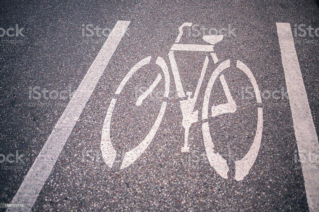 Bike Lane royalty-free stock photo