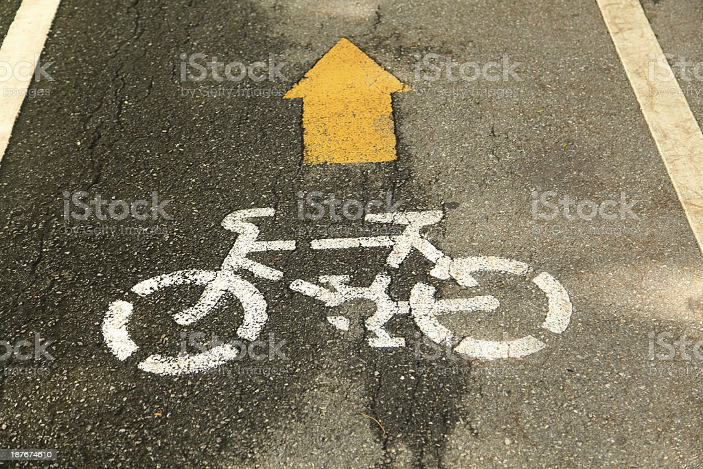 Bike lane royalty-free stock photo