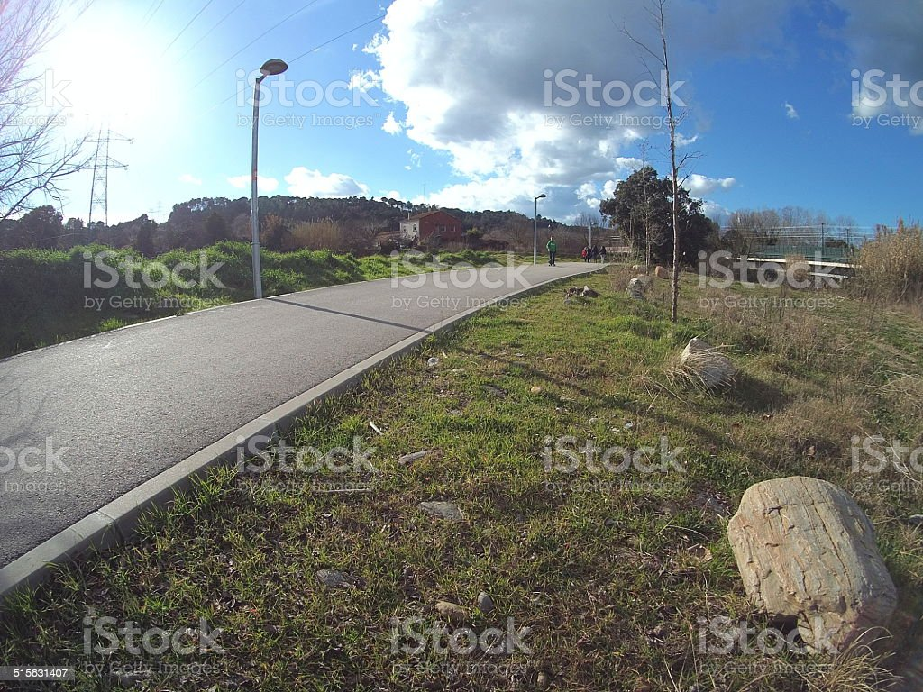 carril bici stock photo
