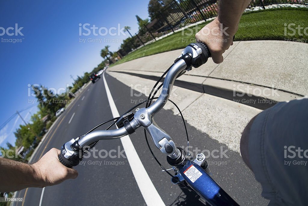 Bike Lane Ride royalty-free stock photo