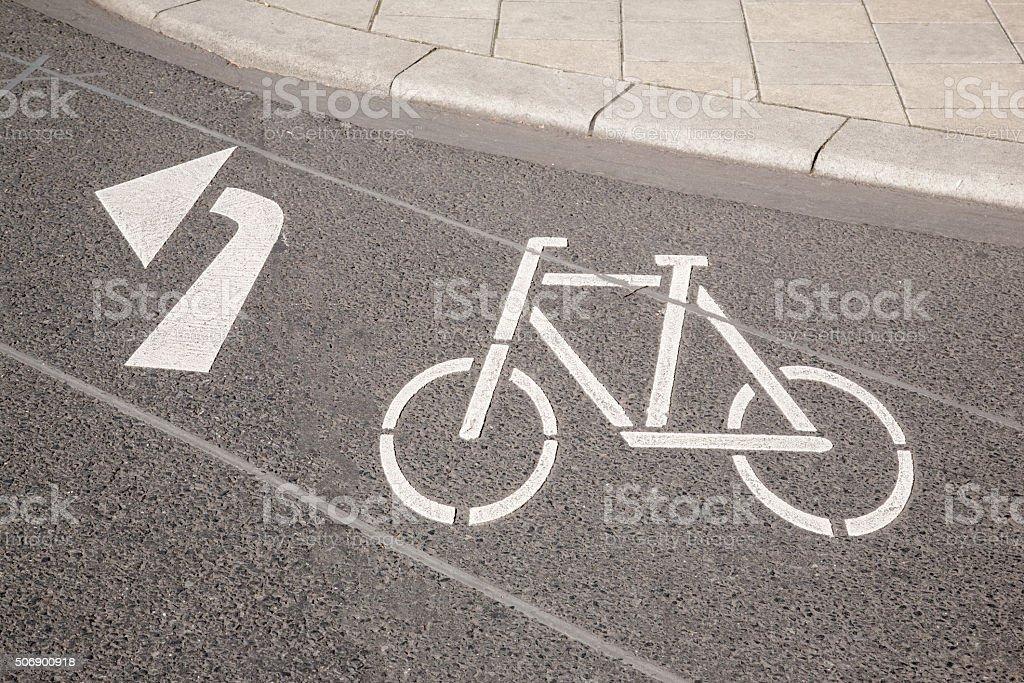 Bike Lane Symbol And Arrow Cologne Stock Photo 506900918 Istock