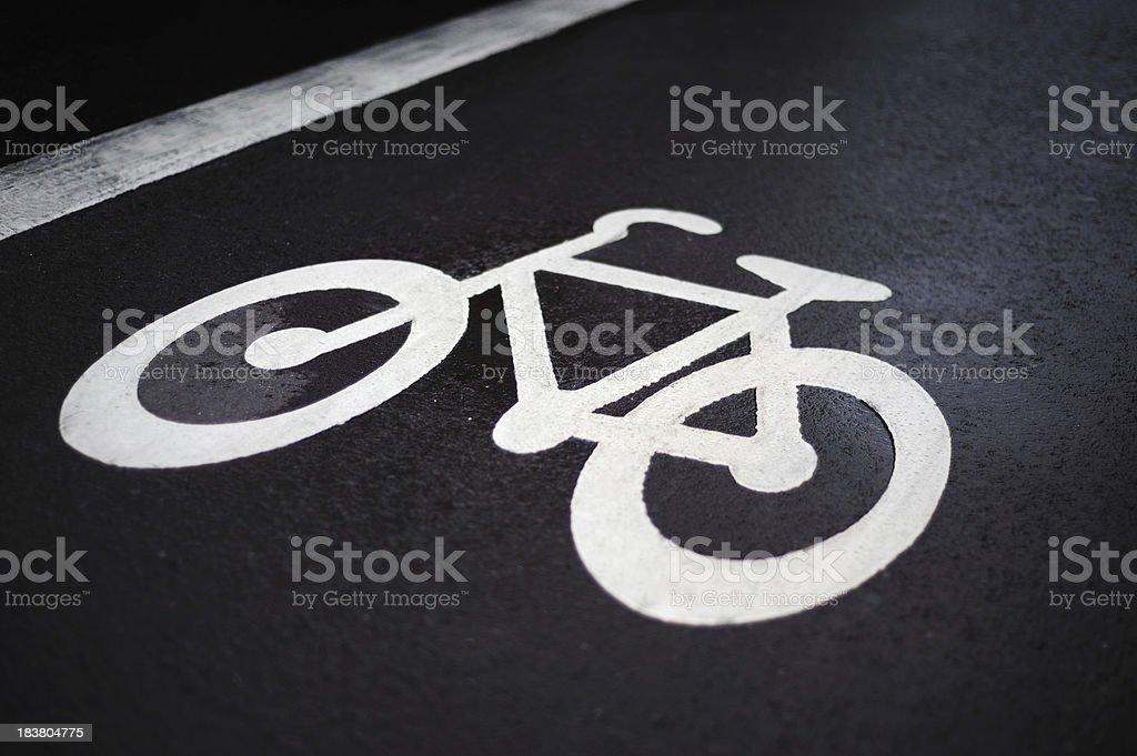 Bike lane symbol royalty-free stock photo