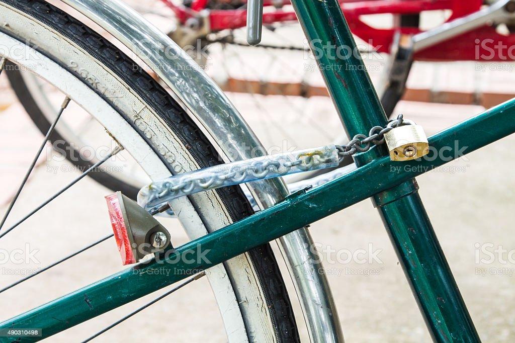 Bike Lock stock photo