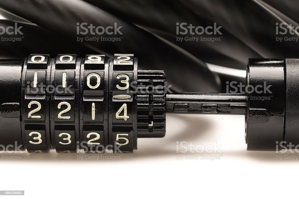 Bike Lock . stock photo