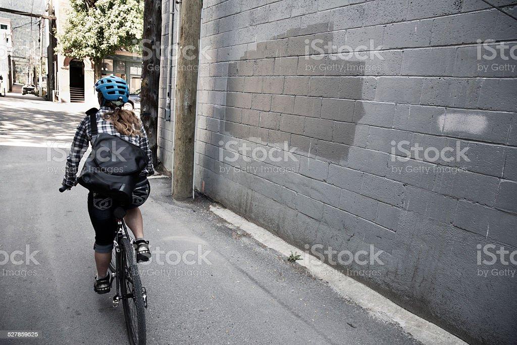 Bike Messenger Girl stock photo
