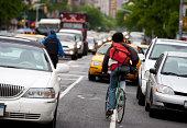 Bike Messenger in New York City