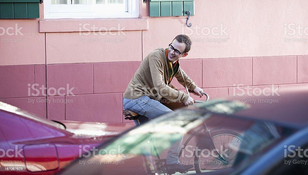 Bike messenger royalty-free stock photo