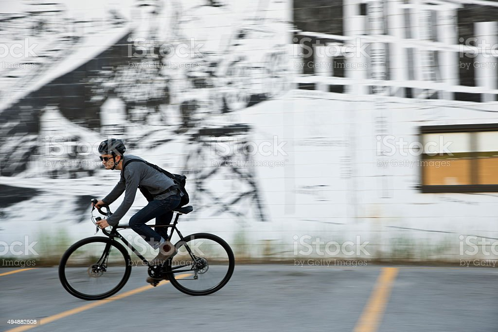 Bike Messenger stock photo