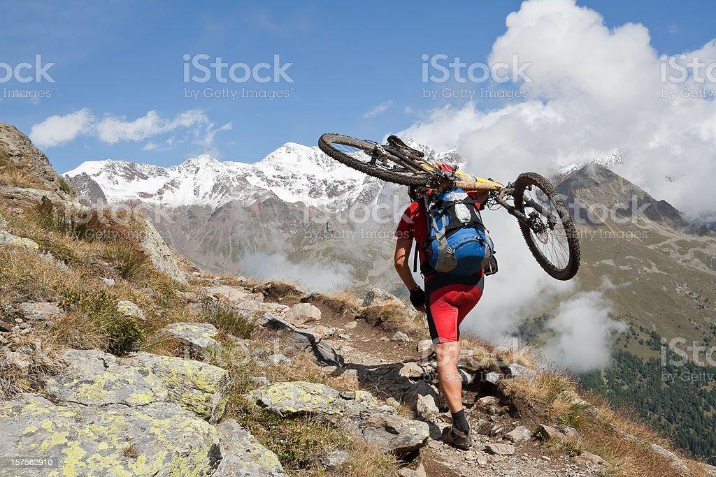Bike on back royalty-free stock photo