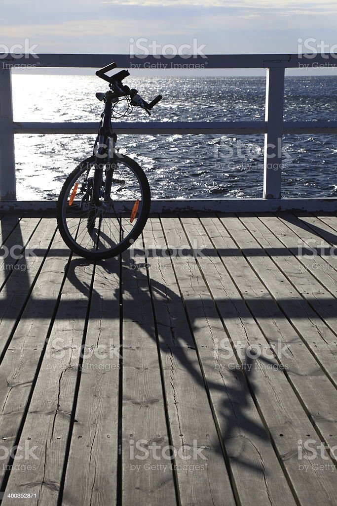 bike on the beach royalty-free stock photo