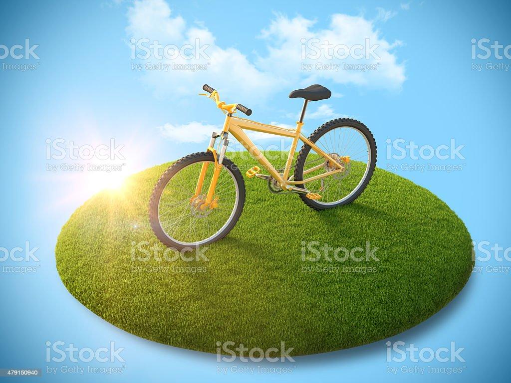 Vélo sur l'île de vol photo libre de droits