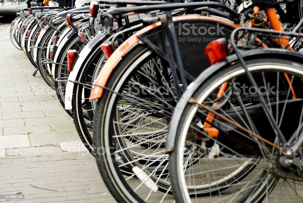 bike parking royalty-free stock photo