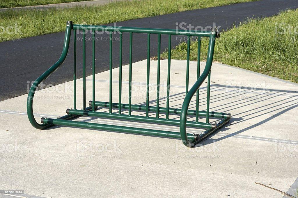 Bike Parking Rack royalty-free stock photo