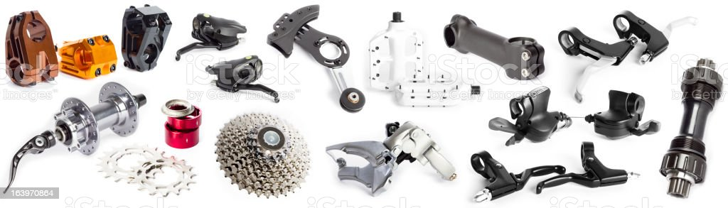 Bike parts collage stock photo