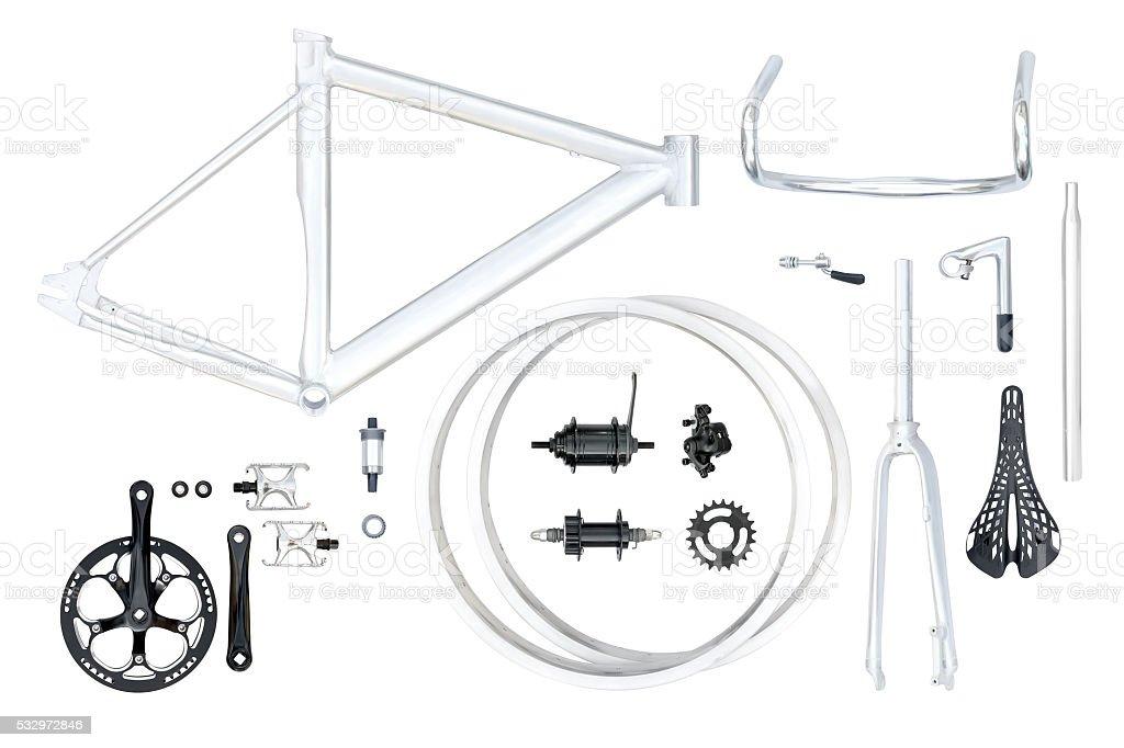 Bike parts set stock photo