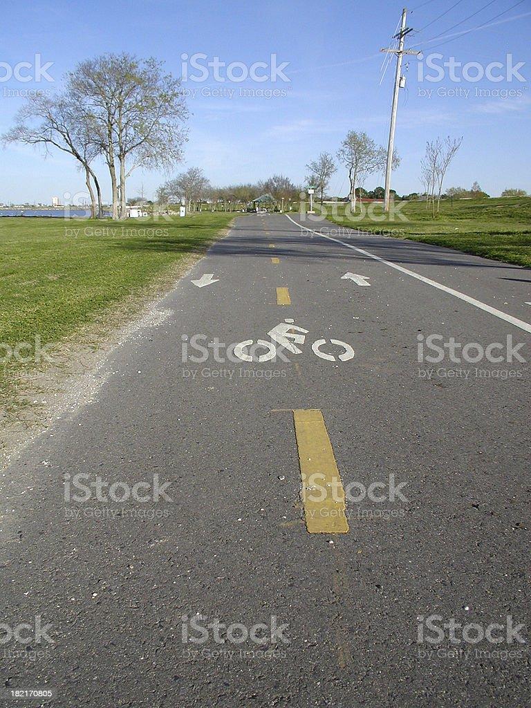 Bike Path royalty-free stock photo