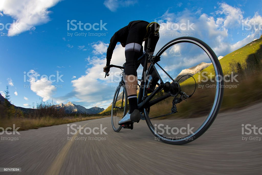 Bike Path Rider Man stock photo