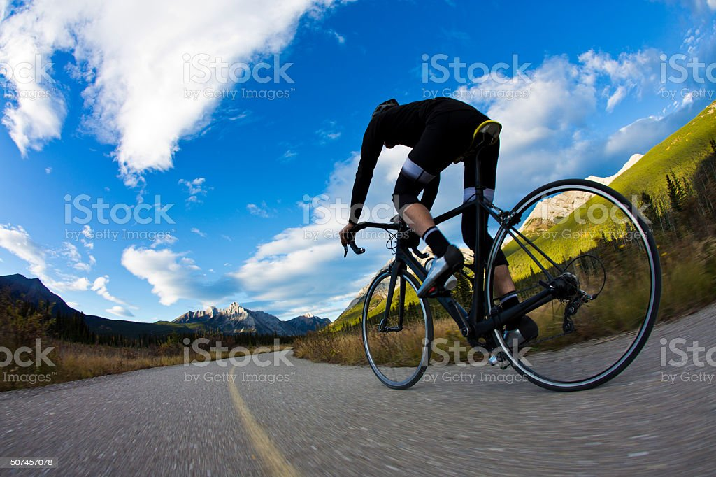 Bike Path Rider stock photo