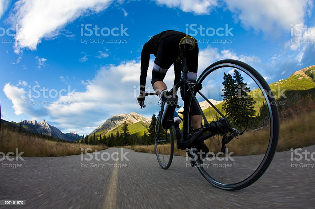Bike Path Road Rider stock photo