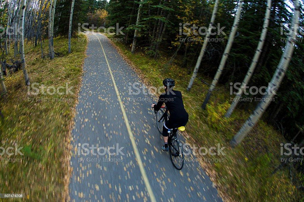 Bike Path Road Rider stock photo