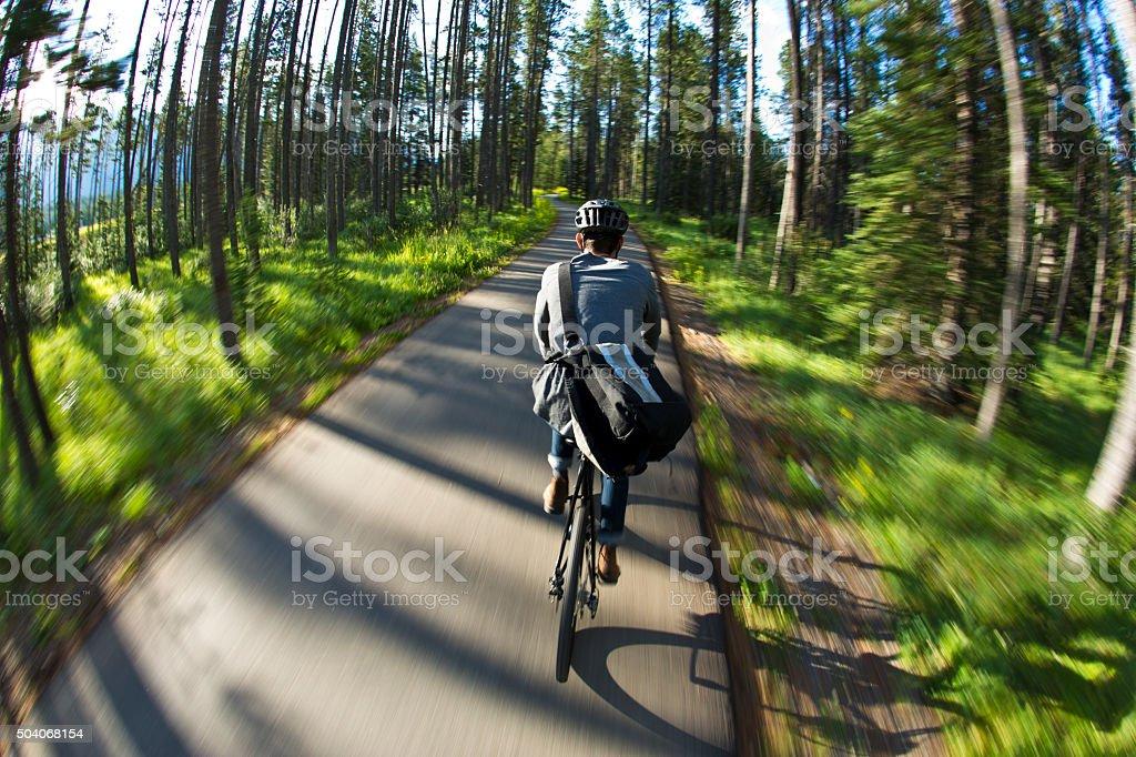 Bike Pathway Ride stock photo