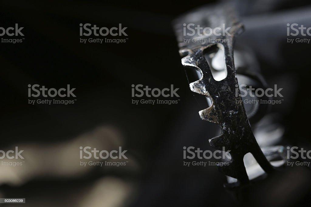 Bike Pedal and Dark Background stock photo