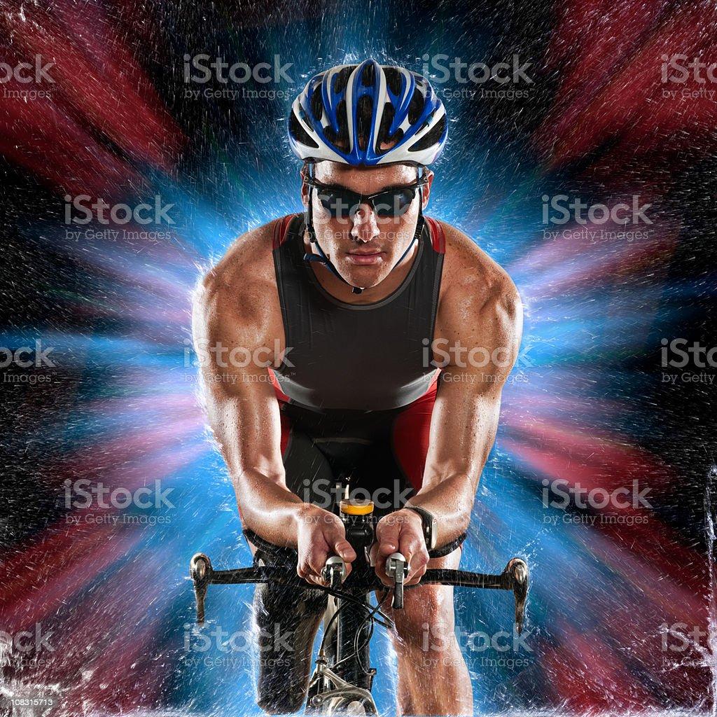 Bike Racer royalty-free stock photo