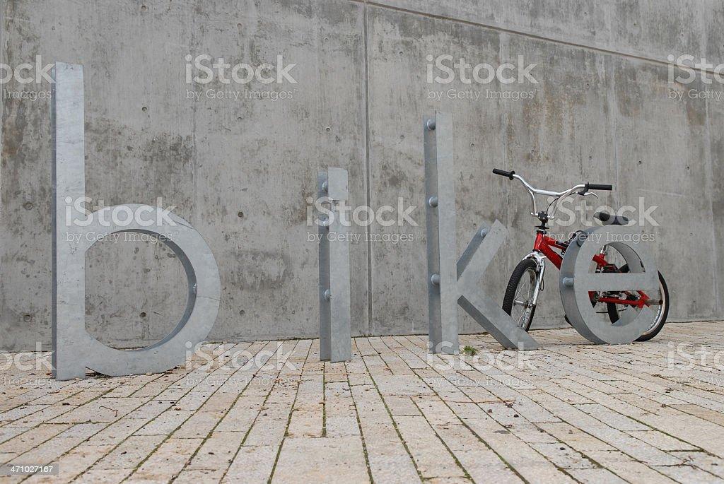 Bike Rack royalty-free stock photo